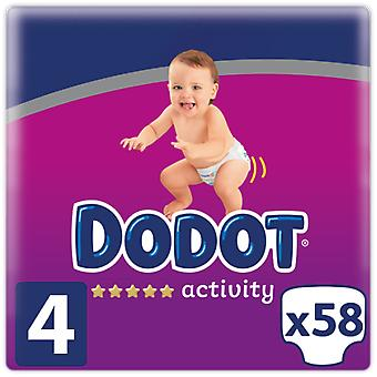 Dodot Activity diapers Size 4 58 units
