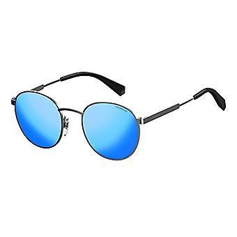 Polaroid PLD 2053/S 5X 6LB Sonnenbrille, Grau (Ruthenium/Grey Grey Speckled Blue Pz), 51 Unisex-Erwachsene