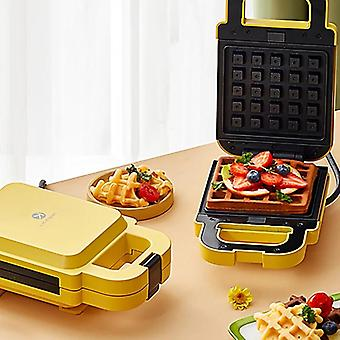 Multifunctional Sandwich Maker Waffle Machine Double-sided Heating Removable And Washable For Kitchen