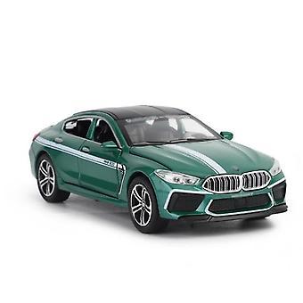 1/32 Alloy Die Cast M8 Sedan Model Toy Car Simulation Sound Light Pull  Saloon Toys Vehicle(Green)