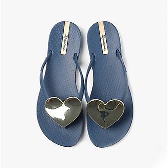 Ipanema Maxi Heart 21 Ladies Flip Flops Navy