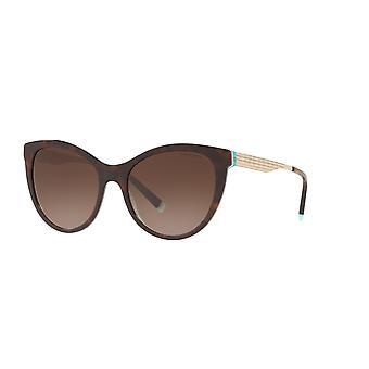 Tiffany TF4159 82753B Havana-Crystal Blue/Brown Gradient Sunglasses