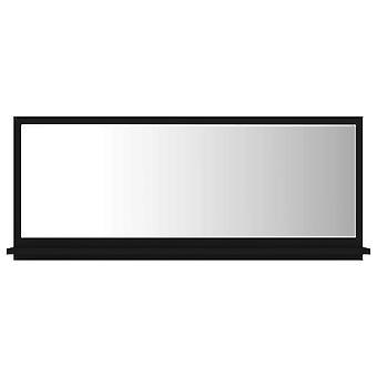 vidaXL Badspiegel Schwarz 90x10,5x37 cm Spanplatte