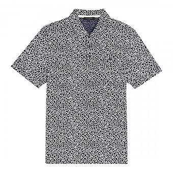 Ted Baker Micsup Bedrukt MarineBlauw Polo T-Shirt