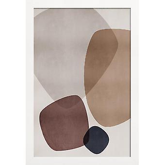 JUNIQE Print - Grafik 207 - Abstrakt & Geometrisk Affisch i Brunt & Cream White