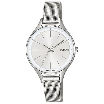 Pulsar PH8277X1 Ladies Stainless Steel Mesh Bracelet With Silver Dial 50M Watch