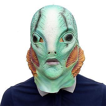 Halloween Hell Baron  Mask Party Supplies Latex Mask
