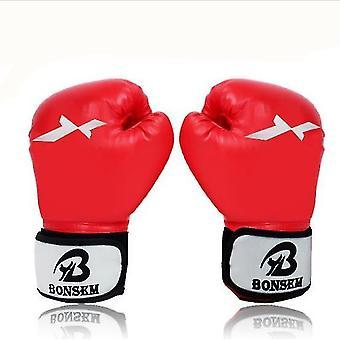 Luvas de boxe para homens Sanda lutando lutando luvas de boxe soco luvas (vermelho)