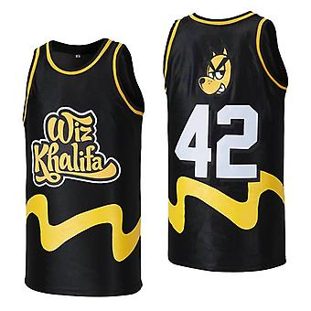 Mens Basketball Jerseys Wiz Khalifa 42 Space Movie Jersey 90s Hip Hop Clothing For Party S-xxl