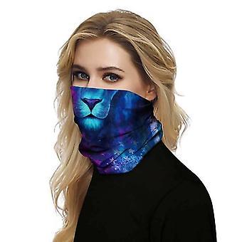 (Galaxy Lion) Full Function Face Mask Neck Tube Cycling Snood Scarf Bandana