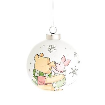 Disney Magical Pooh and Piglet Merry Xmas Little One Bauble