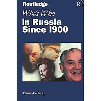 Who's Who in Russia and the Soviet Union: From 1900 to the Present (Routledge Who's Who)