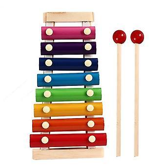 خشبي الطفولة تعلم لعبة الاطفال الطفل الملونة كتل لعبة