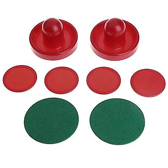 Air Hockey Accessories- Goalies Puck Felt Pusher Mallet Adult Table Games
