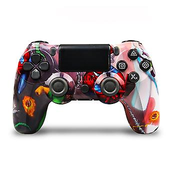 Wireless PS4 Controller Bluetooth Gamepad For PlayStation 4 Pro/Slim/PC/Android/IOS/Steam/DualShock 4 Game Joystick Graffiti 19