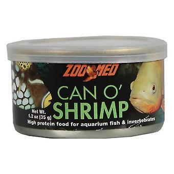 Zoo Med Can O Shrimps Proteinreiches Futter für Aquarienfische und Wirbellose - 1,2 Unzen