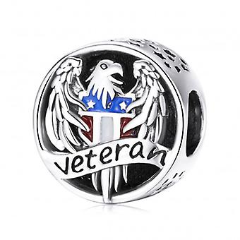 Sterling Silver Charm Veteran Stay Strong - 7203