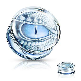 Korvatulpat sininen lohikäärme silmäjälki koteloitu selkeä akryyli satula istuvuus pistoke