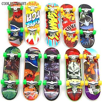 10pcs Random Fingerboard Tech Decks 95mm Mini Skateboard Original Jungen Spielzeug