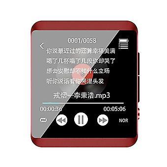 Mp3 players bluetooth player full touch 8gb 16gb mp3 red