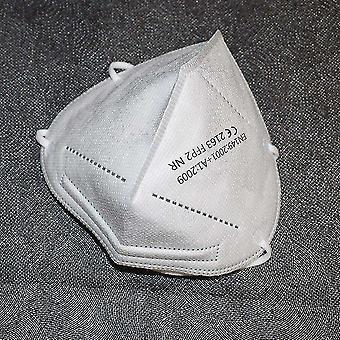 Dust masks 5 layers respirator face mask ffp2 95% filtration and anti dust  ce white 2 piece