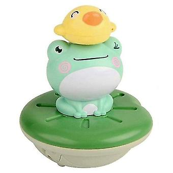 Bath toys baby bath toys electric spray water floating rotation green forg sprinkler toy shower game for