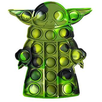 (Vert) Bébé Yoda Fidget Jouets Popit Push Bubble Sensory Gamepad Jouets Anti Stress Finger