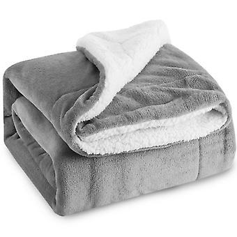 Двухсторонняя бархатная постельное одеяло, пушистое одеяло из микрофибры