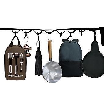 Evago Camping Oppbevaringsveske Campingplass Oppbevaringsstropp Camping Tilbehør, Utendørs Utstyr Telt Line Reise Kleshenger Kleslinje Camping Essentials Fami