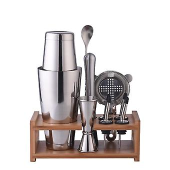 Коктейль шейкер из нержавеющей стали, деревянный инструмент для бара