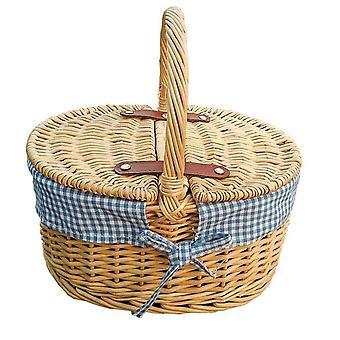 Childs piknik kosár, kék bélés