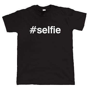 Hashtag Selfie, hauska Miesten T-paita