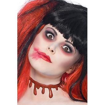 Corte a garganta ferida ferimento Halloween horror de sangue
