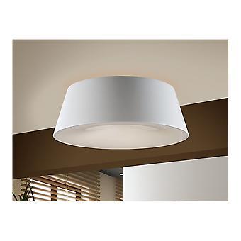 Schuller Modern White Drum Ceiling 4 Light