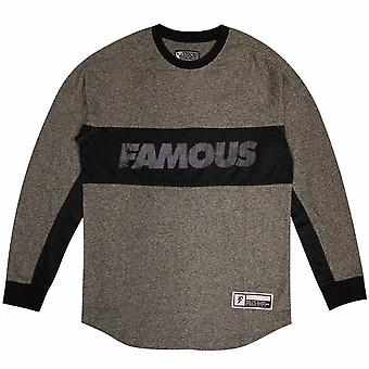 Famous Stars and Straps Whip Long Sleeve T-shirt Black Heather