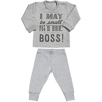 Spoilt Rotten I May Be But I'm The Boss Sweatshirt & Jersey Trousers Baby Outfit Set