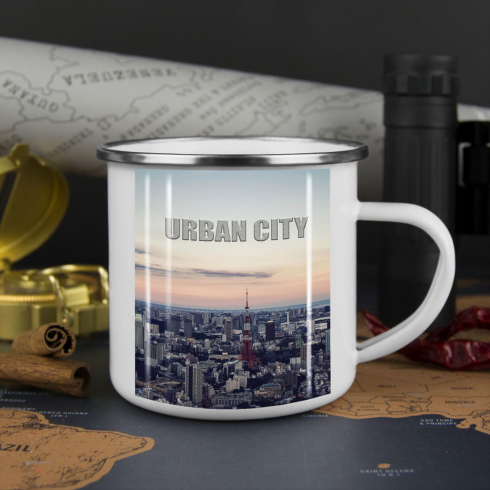 Stadtstraße Mode neue WhiteTea Kaffee Emaille Mug10 oz | Wellcoda