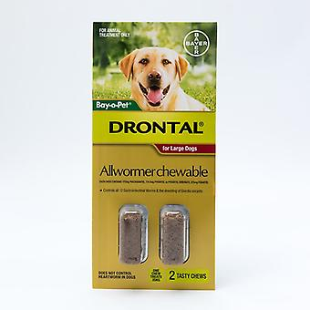 Drontal Allwormer Chewable for Large Dogs 22-77lbs (10-35kg)