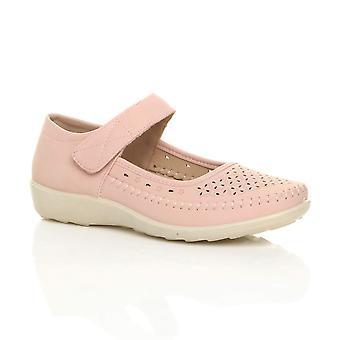 Ajvani womens platte greep enige mary jane haak & lus opgevuld gepolsterde comfort schoenen