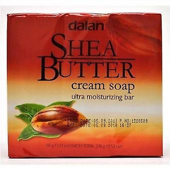 Dalan Ultra fuktighetsgivende såpe Shea smør 3-Pack 3x90g