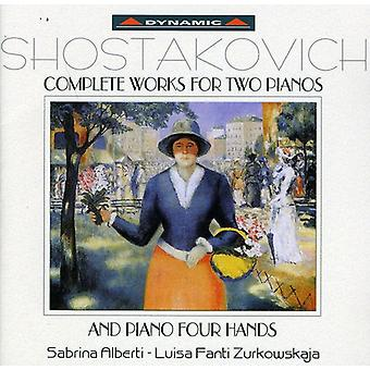 D. Shostakovich - Two Pianos & Four Hands (Complete Works) [CD] USA import