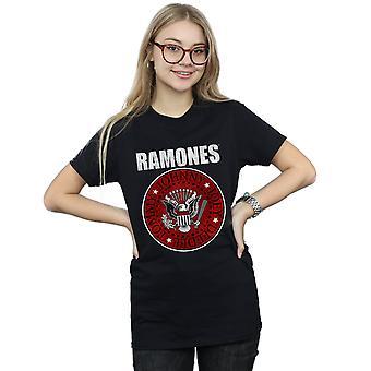 Ramones kvinder røde Fill Seal kæreste Fit T-Shirt
