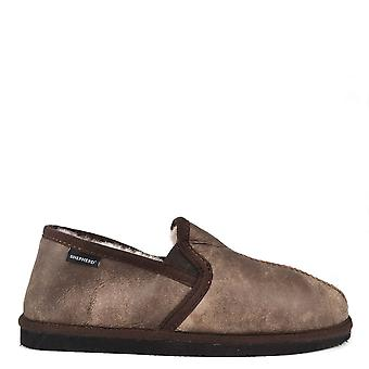 Shepherd of Sweden Mens' Bosse Antique Stone Leather Slipper