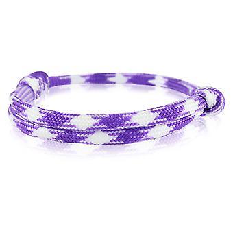 Patrón pulsera surfer banda nodo maritimes pulsera nylon púrpura / blanco 6916