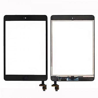 Touch scherm Home knop IC chip voor Apple iPad mini 1 + 2 + zelfklevende pad zwart