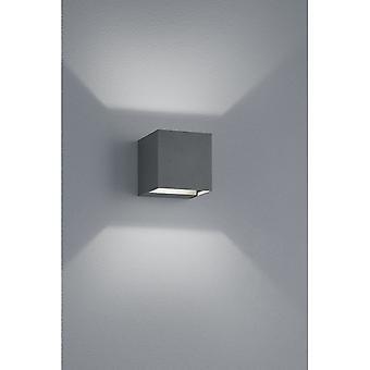 Trio verlichting Adaja Modern antraciet Diecast Aluminium wand Lamp