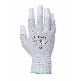PORTWEST - antistatico PU punta delle dita guanti (confezione da 3 paia)