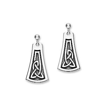 Sterling Silver perinteiset Celtic ikuisuus knotwork Design pari korva korut-E1789