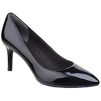 Rockport Womens Total Motion Pointy Toe Stiletto Shoe Black Patent