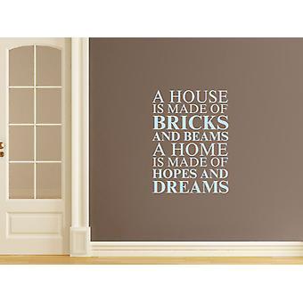Une maison est faite d'Art Wall Sticker - Pastel Bleu